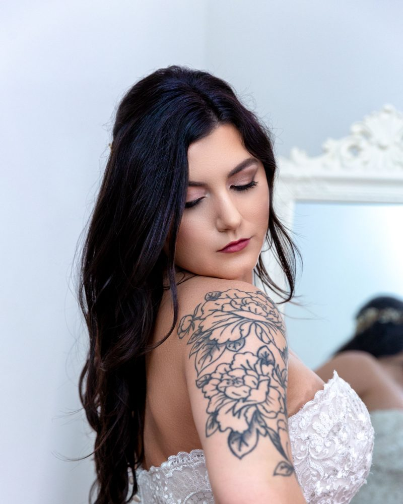 Bride tatoo portrait